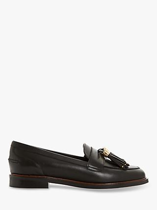 Dune Glazer Leather Tassel Loafers