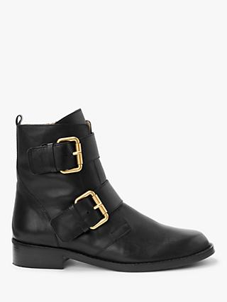 Boden Cavenham Leather Ankle Boots, Black