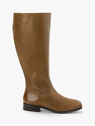 Boden Allercombe Leather Block Heel Knee High Boots, Tan