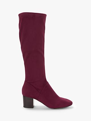 Boden Round Toe Block Heel Knee High Boots, Ruby Ring