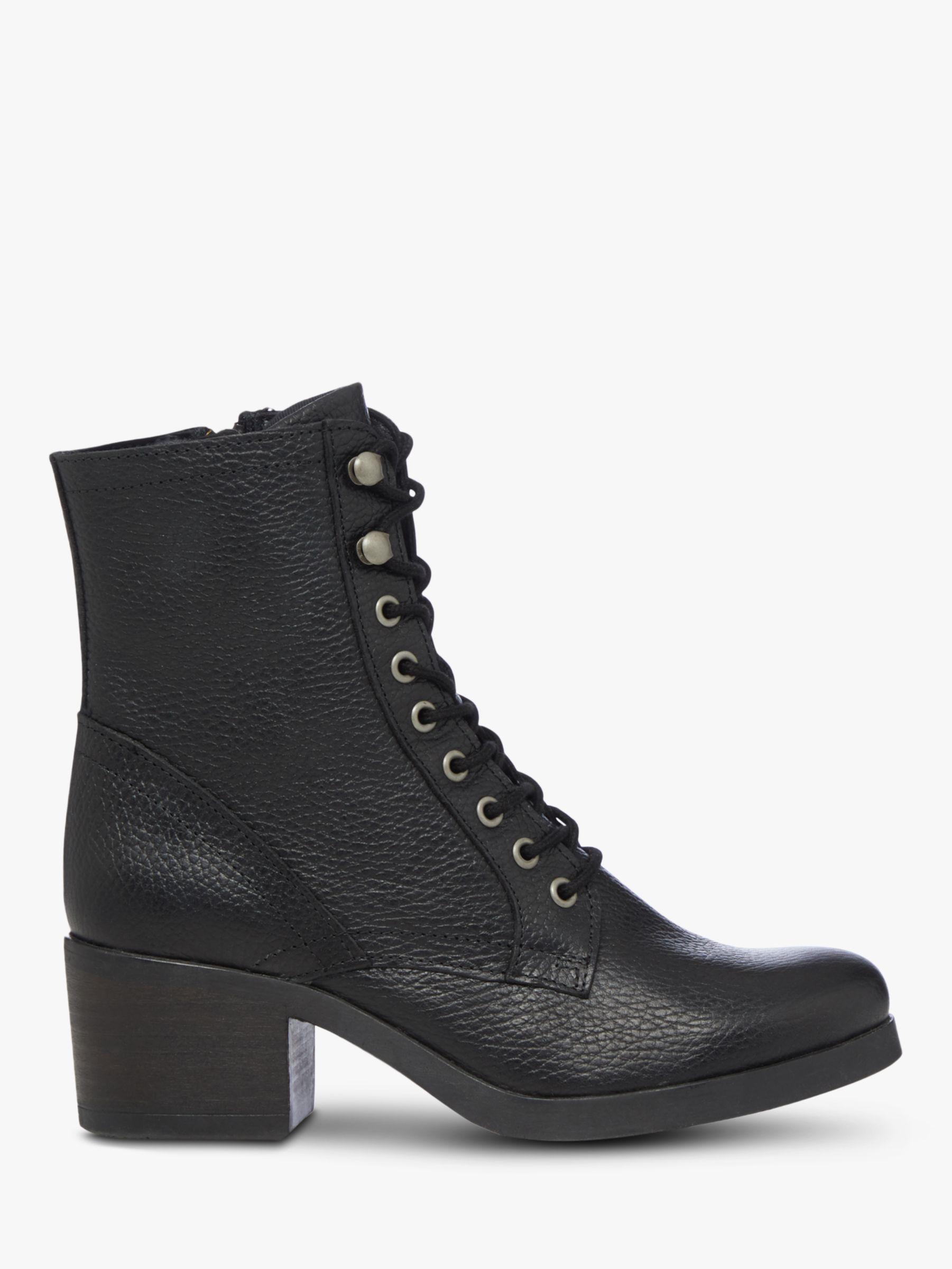 Bertie Bertie Painter Leather Lace Up Ankle Boots
