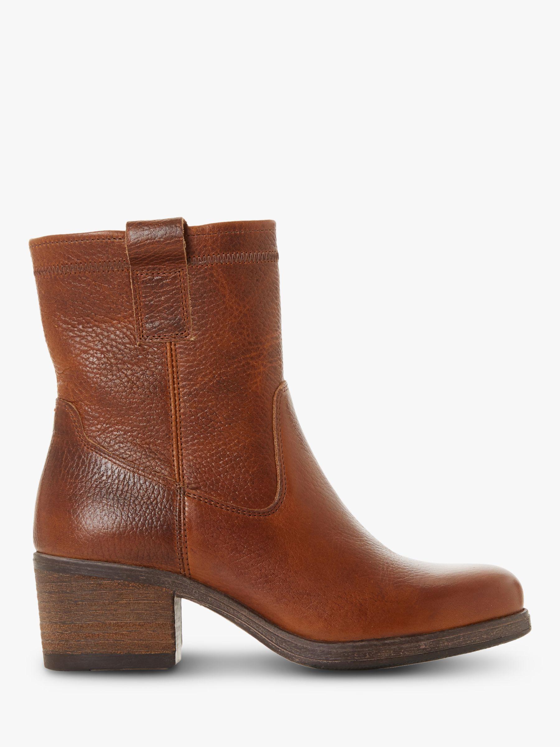 Bertie Bertie Pacer Leather Block Heeled Ankle Boots