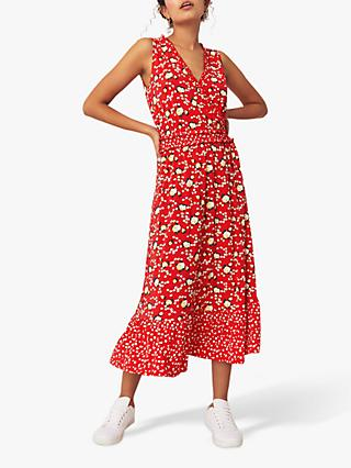 Oasis Floral Summer Dress, Red