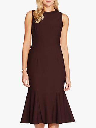 Adrianna Papell Daphne Flare Dress, Blackberry Wine
