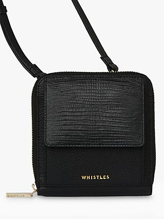 Whistles Orton Multi Way Leather Purse, Black