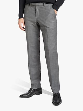 HUGO by Hugo Boss Simmons182 Micro Pattern Regular Fit Suit Trousers, Dark Grey