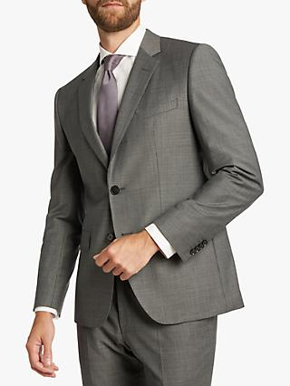 HUGO by Hugo Boss Jeffery182 Micro Pattern Regular Fit Suit Jacket, Dark Grey