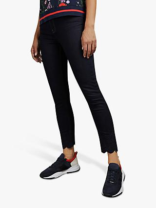 Ted Baker Yesenia Embroidered Jeans, Blue Denim