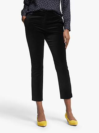 Boden Velvet Cropped Trousers