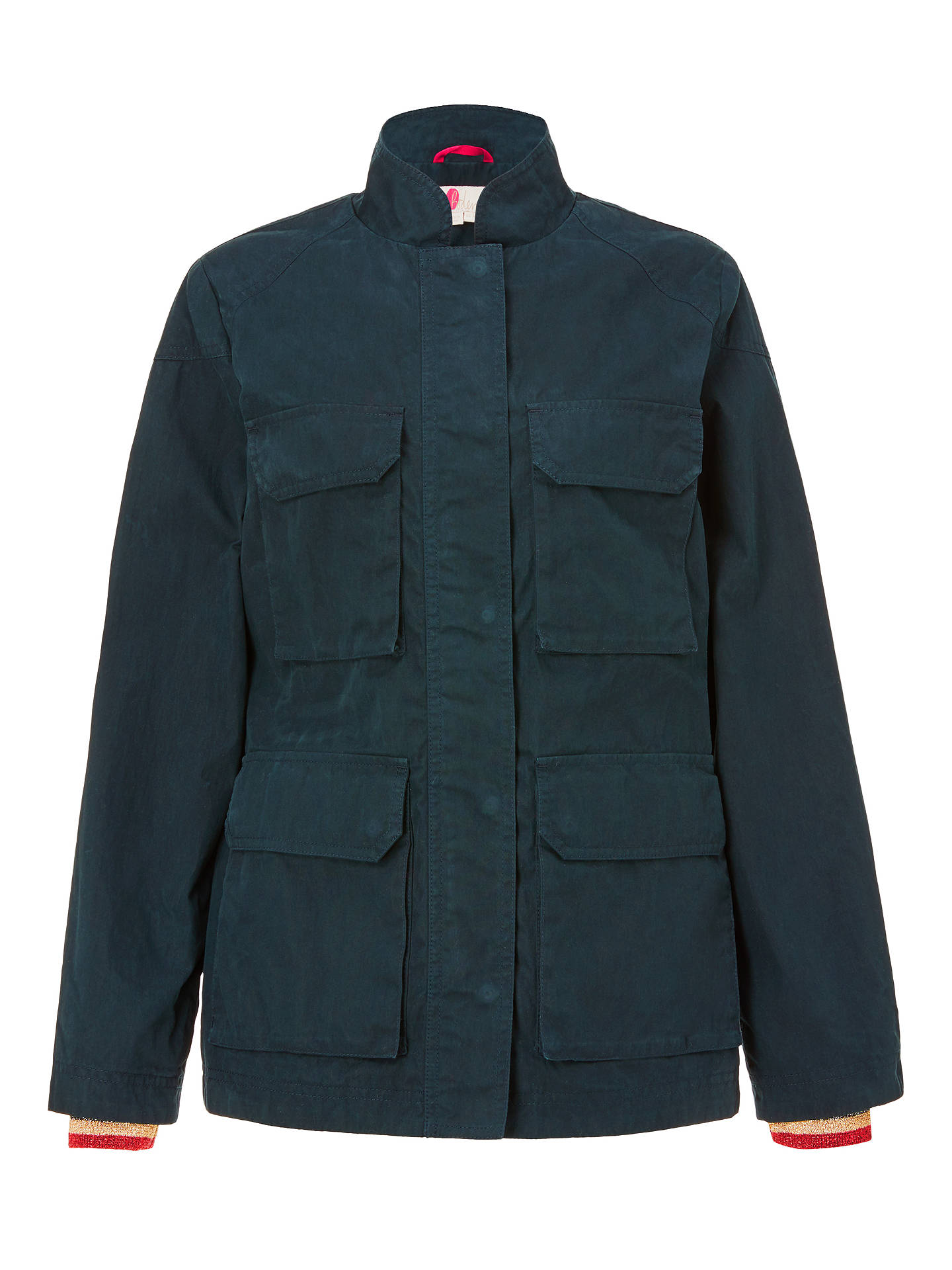 Buy Boden Routledge Wax Jacket, Navy, 8 Online at johnlewis.com
