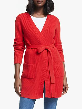 Boden Cara Knit Cardigan, Post Box Red