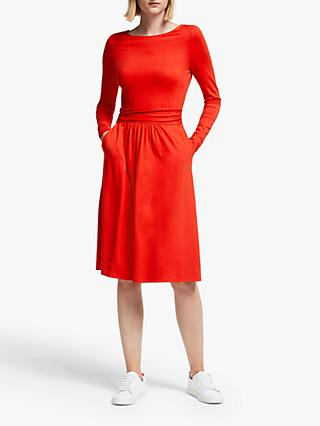 Boden Abigail Jersey Dress, Post Box Red