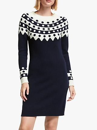 Boden Rhea Fair Isle Wool Blend Dress