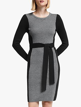 Boden Rosa Dress, Grey Melange/Black