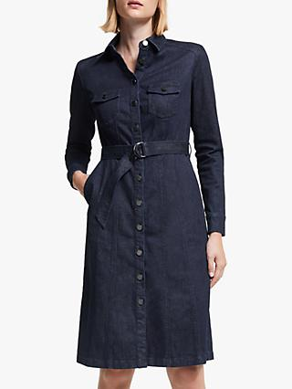 Boden Lena Denim Shirt Dress, Rinse Indigo