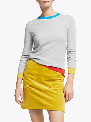 Boden Crew Neck Cashmere Jumper, Grey
