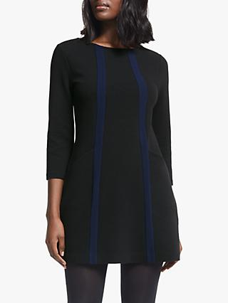 Boden Anita Ottoman Tunic Top, Black/Navy