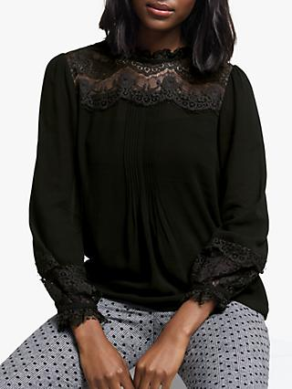 Boden Joanna Lace Top, Black