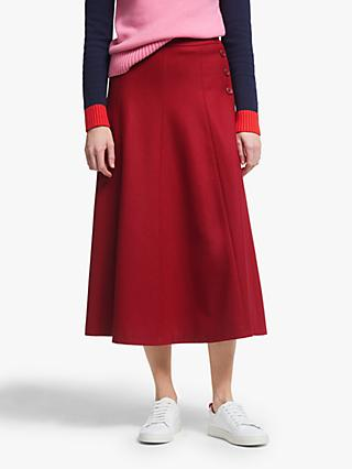 Boden Esme Tweed Skirt, Post Box Red
