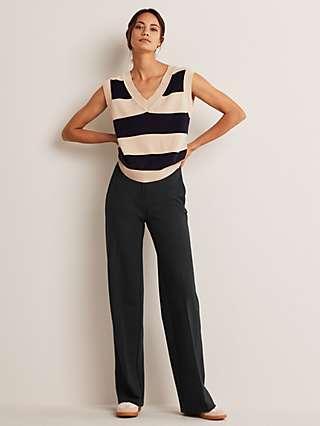 Boden Hampshire Ponte Trousers, Black