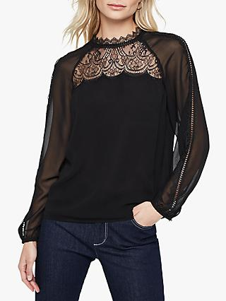 Damsel in a Dress Sania Lace Detail Blouse, Black