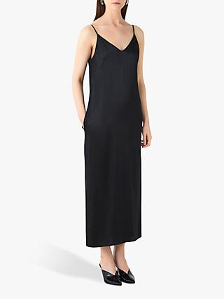 Finery Thayer Slip Dress, Black