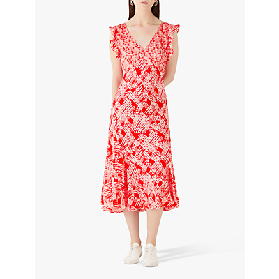 Finery Messina Dress, Red/Multi