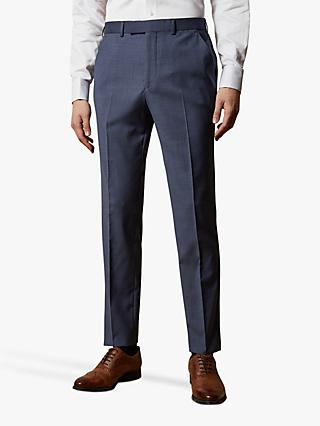 Ted Baker Keller Wool Tailored Suit Trousers, Blue