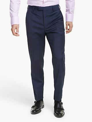 Ted Baker Cooper Wool Check Tailored Suit Trousers, Navy