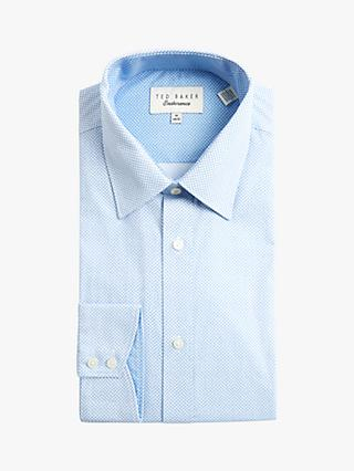Ted Baker Buterbe Diamond Print Shirt, Light Blue