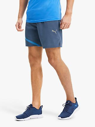 "PUMA Ignite Blocked 7"" Training Shorts, Navy"