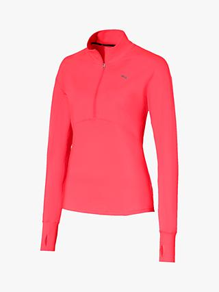PUMA Ignite 1/4 Zip Long Sleeve Training Top, Pink