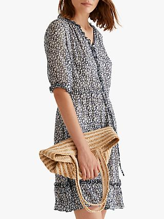 Jigsaw Animal Print Dress, Monochrome