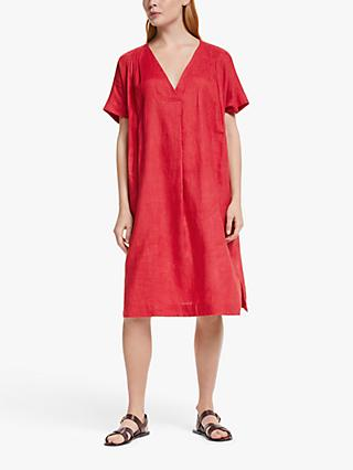 John Lewis & Partners Linen Pintuck Dress
