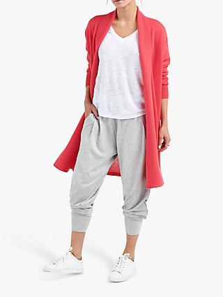 NRBY Suzie Cashmere Cardigan Coat, Coral Pink