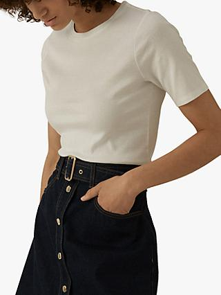 Karen Millen Perfect Fit T-Shirt, White