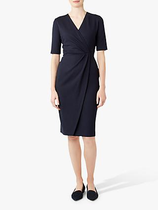 Hobbs Ponte Olive Dress, Navy