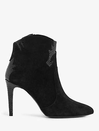 AND/OR Renea Suede Western Ankle Boots, Black