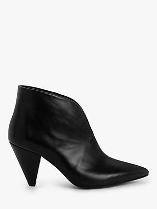 Kin Poppy Leather Shoe Boots, Black