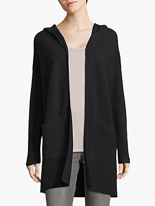 Betty & Co Ribbed Knit Open Neck Hoodie