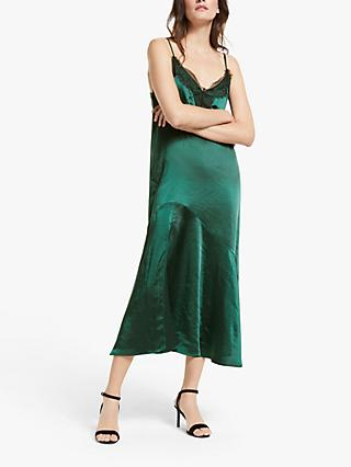 Y.A.S Florence Slip Midi Dress, Green