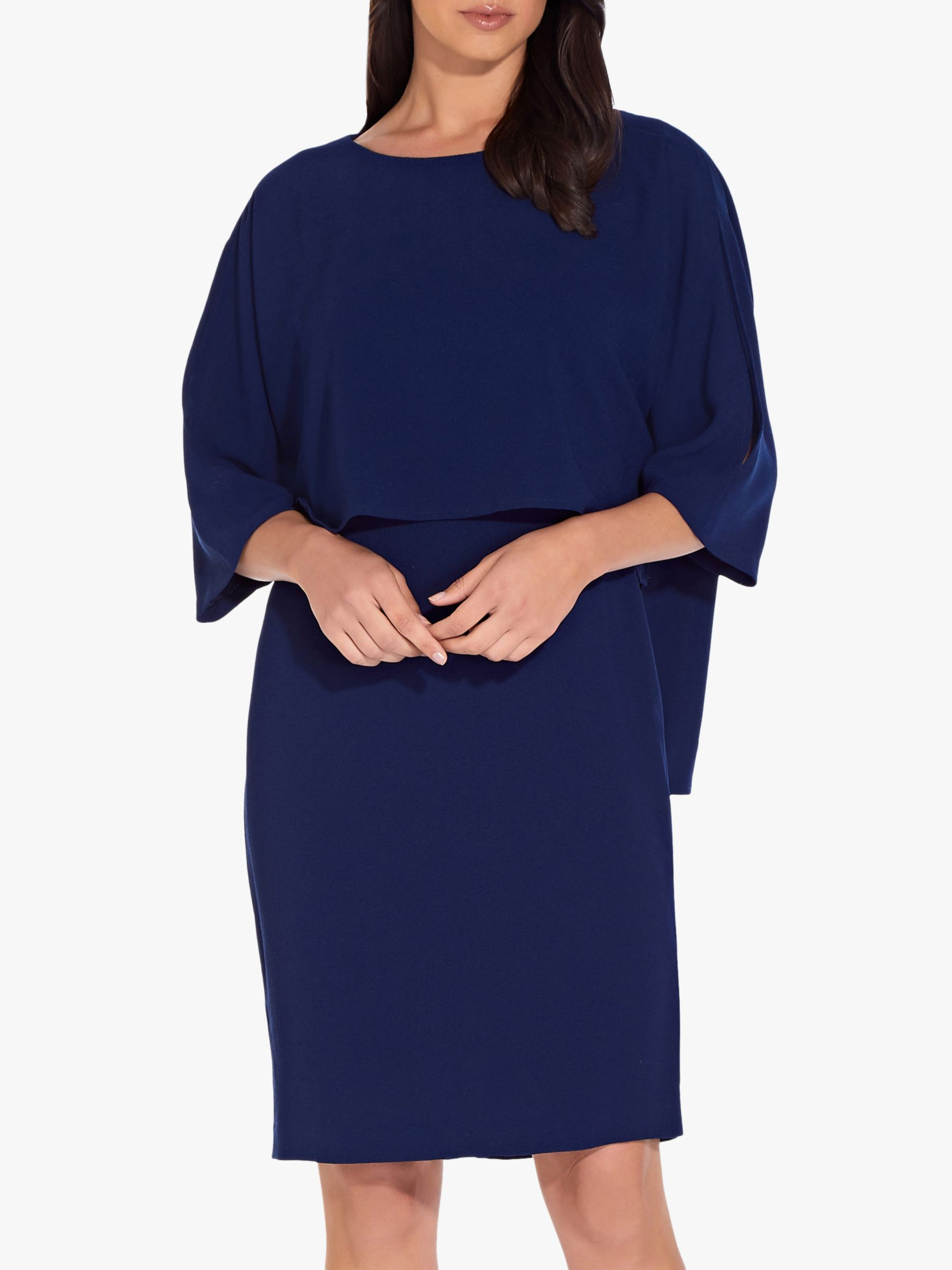 Adrianna Papell Adrianna Papell Textured Crepe Sheath Dress, Ink