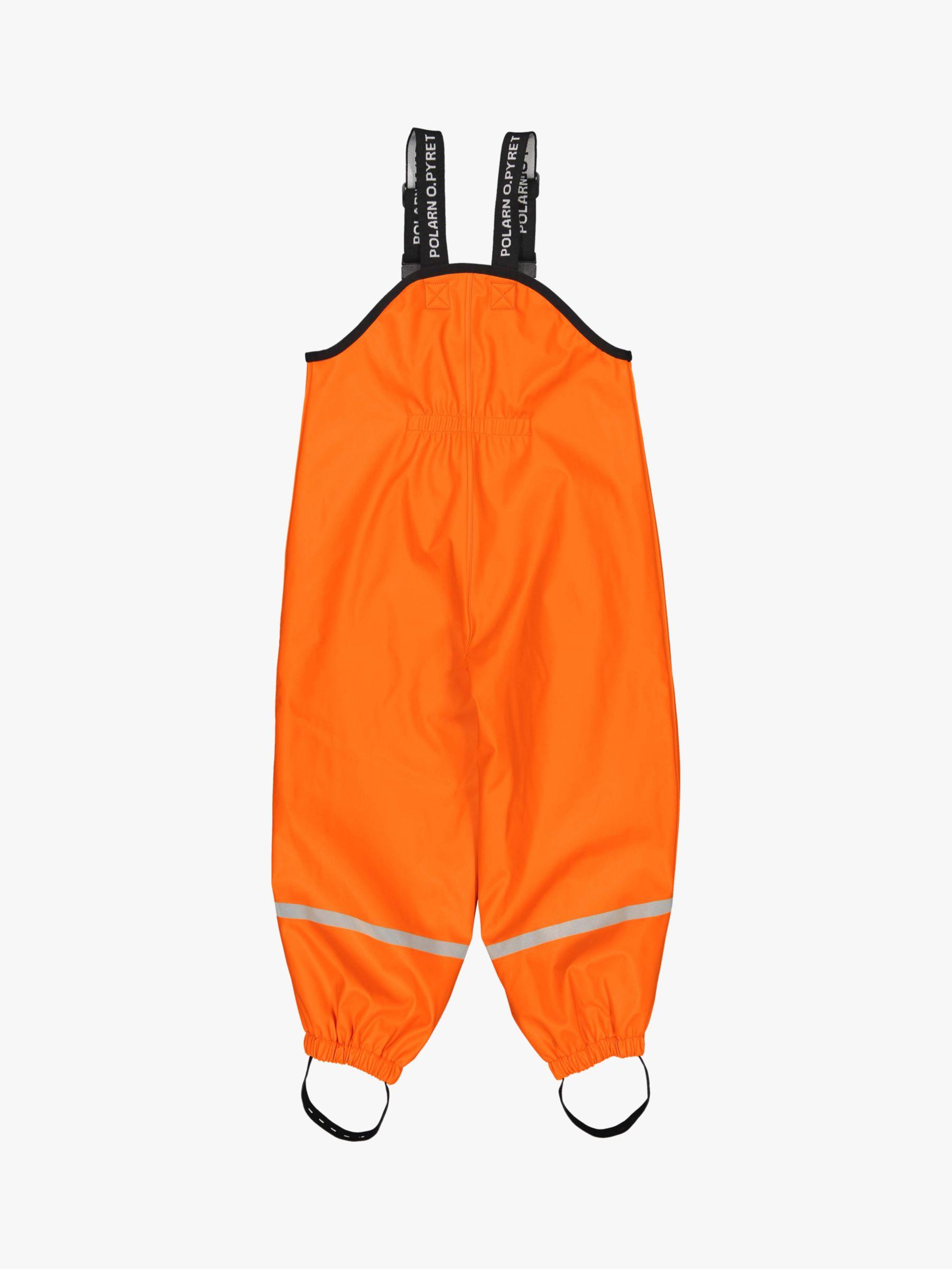 Polarn O. Pyret Polarn O. Pyret Children's Rain Trousers, Orange