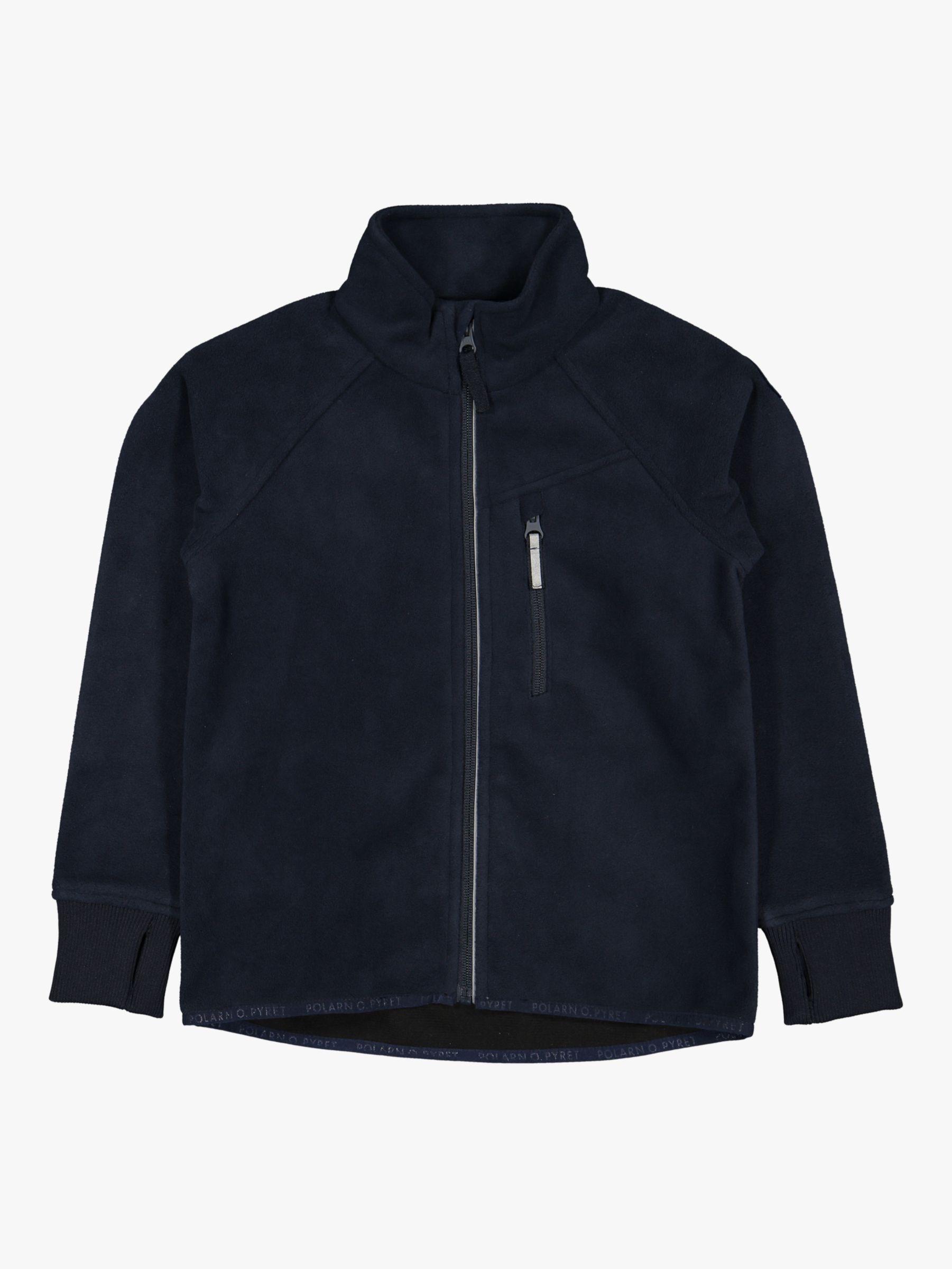 Polarn O. Pyret Polarn O. Pyret Children's Waterproof Fleece Jacket, Dark Sapphire