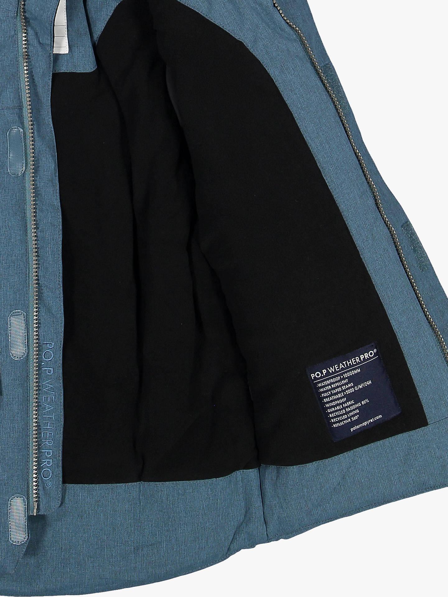 Polarn O. Pyret Children's Parka Coat, Storm Blue