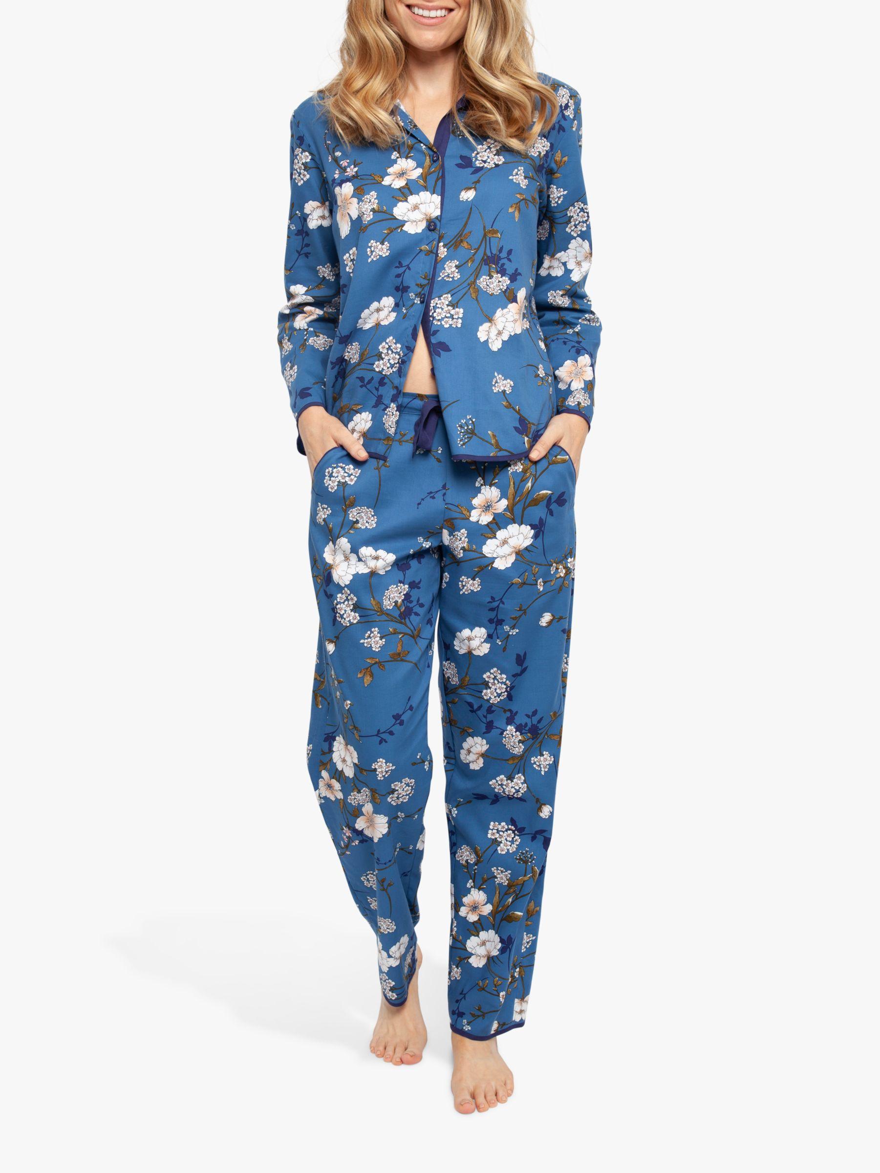 Cyberjammies Cyberjammies Heather Floral Print Pyjama Set, Blue