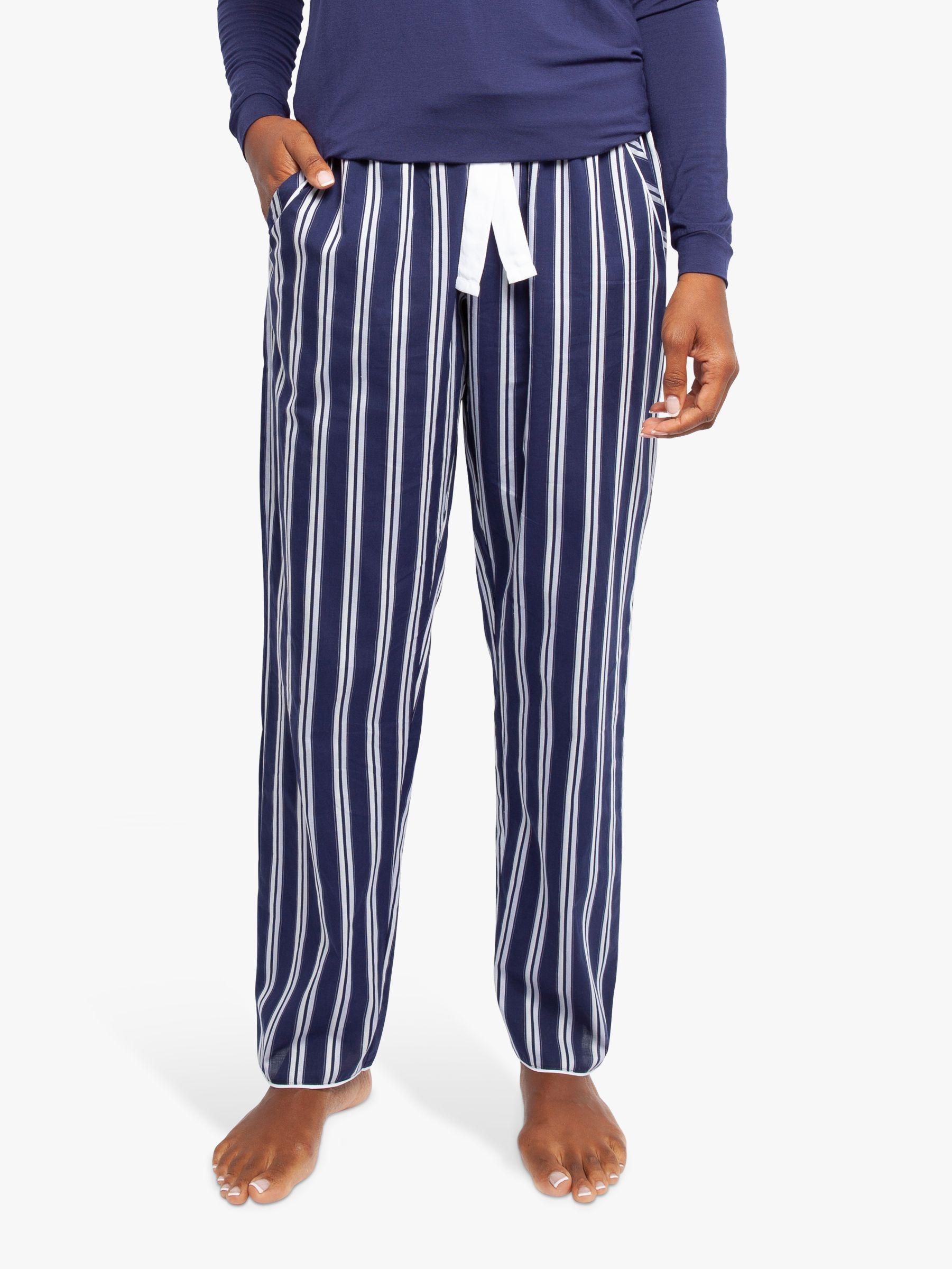 Cyberjammies Cyberjammies Heather Stripe Pyjama Bottoms, Dark Blue