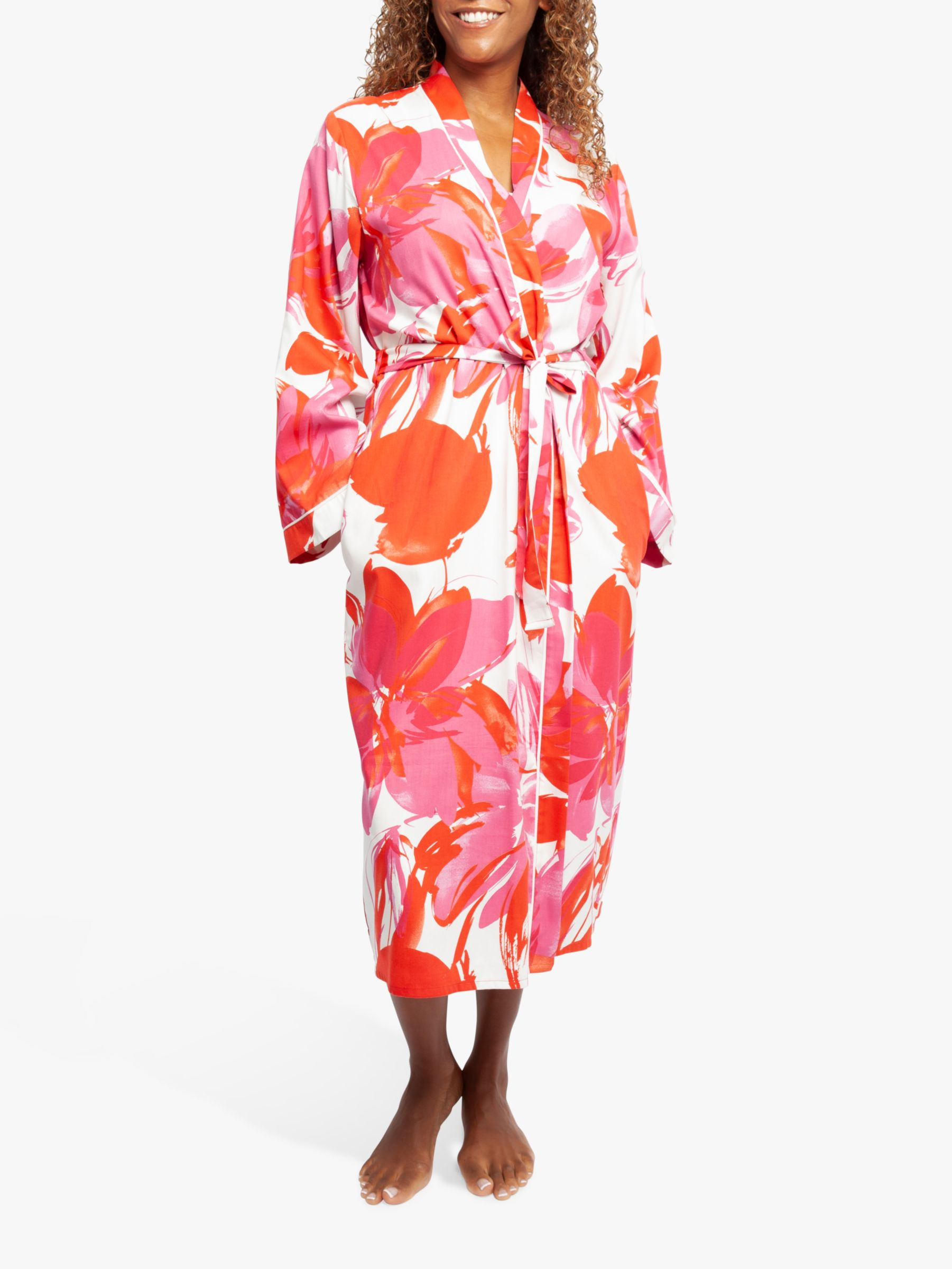 Cyberjammies Cyberjammies Amber Floral Print Dressing Gown, Pink