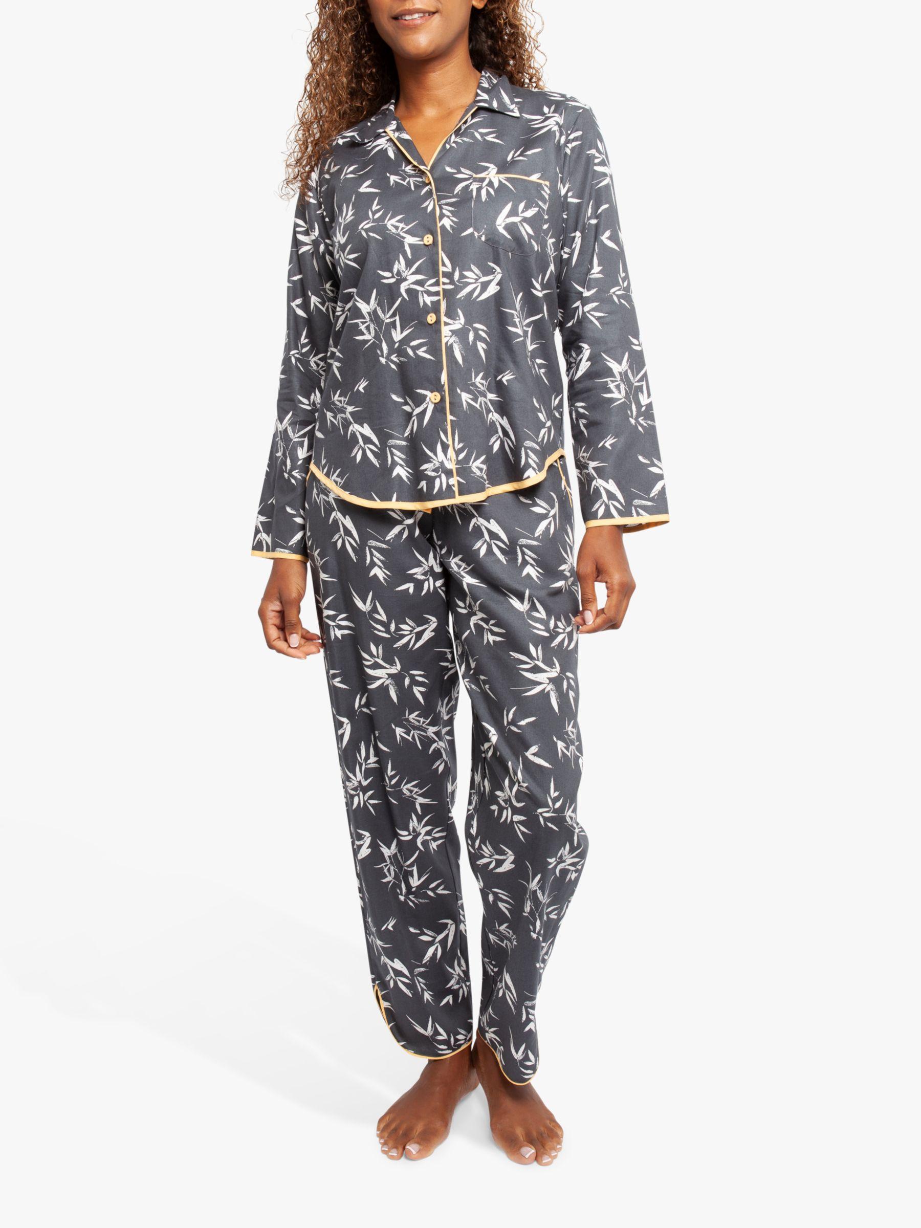 Cyberjammies Cyberjammies Willow Leaf Print Pyjama Set, Grey