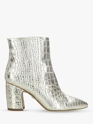 Sam Edelman Hilty Metallic Leather Ankle Boots